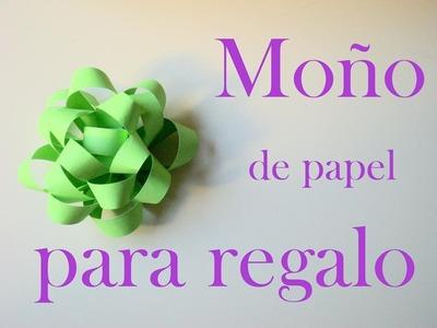 Moño para regalo de papel ♥