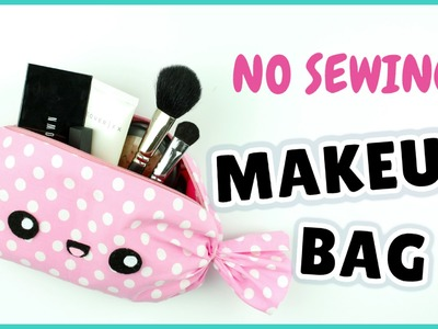 NO SEW! Kawaii Makeup Bag | DIY Candy Makeup Bag | DIY Candy Pencil Case