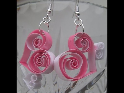 Paper Art Quilling  earrings designs Hand crafts Making DIY Craft Ideas Handmade Jewelery How to mak