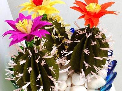 Paper Cactus with Flower