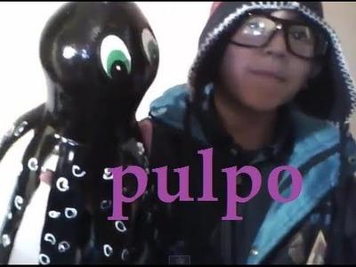 Pulpo reciclado super facil.HOW TO RECYCLING OCTOPUS