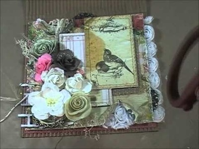 Shabby Chic.Mixed Media Cards Tutorial (Start to finish)