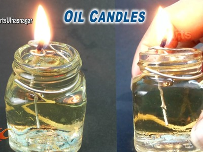 Small Oil lamp. Candle from Waste Bottles | How to make | JK Arts 927