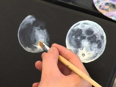 Speed painting - part1. Phases of the Moon - Acryl colours