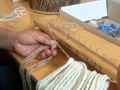The weaving of korowai.