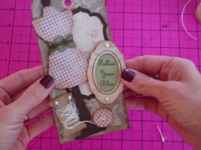 Tim Holtz Sizzix Sewing Room & Tag Dies by Scrappin' with Sabrina 11-14-11