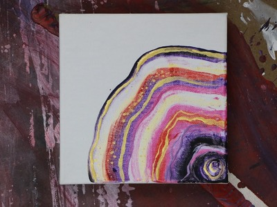 AGATE Inspired ABSTRACT PAINTING TECHNIQUE Acrylic Craft Paint