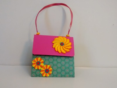Art and Craft: Explosion hand bag box card. Exploding hand bag. Mother's day special exploding bag