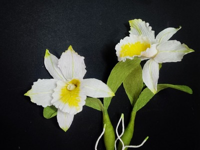Cattleya Orchid with crepe paper - Craft Tutorial