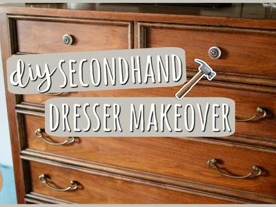 DIY Bedroom Furniture⎪Secondhand Dresser Makeover