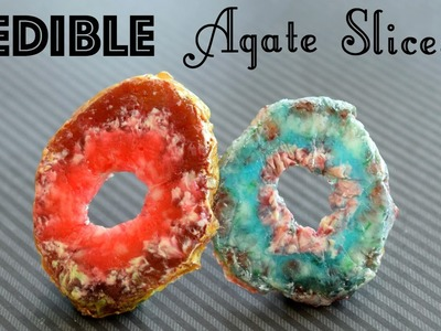 DIY Edible Agate Slices. DIY Candy Rocks and Crystals!. Faux Agate Slice. Edible DIY