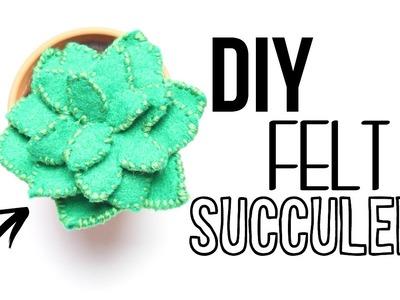 DIY Felt Succulent Plant!