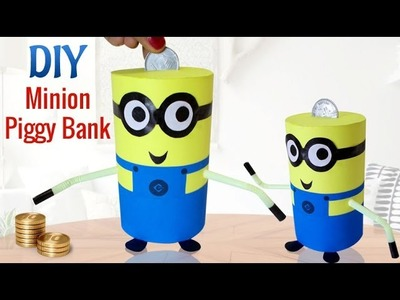DIY Minions Crafts : How To Make Recycled DIY Piggy Bank Craft | Kids Activities