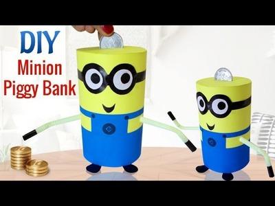 DIY Minions Crafts : How To Make Recycled DIY Piggy Bank Craft | Kids Activities
