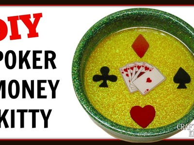 DIY Resin Poker Money Kitty or Wine Coaster ~ Craft Klatch How To