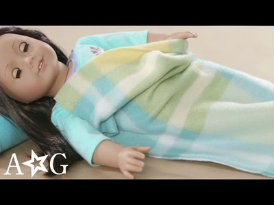 DIY Sleeping Bag & Pillow Doll Craft | American Girl