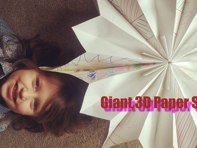 Giant 3D Paper Star - Kids Craft Idea - Amelia's Crafty Corner