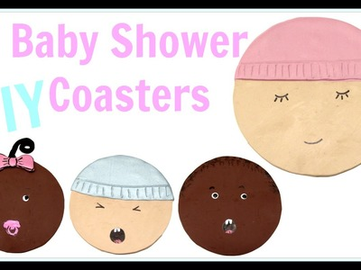 How To Baby Shower Coaster Favors or Mother's Day Gifts ~ Craft Klatch Another Coaster Friday DIY