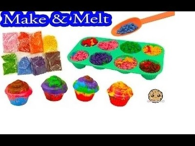 Mix, Make, & Melt Colorful Doodle Cake Cupcake Crayon Maker Craft Kit - Cookieswirlc