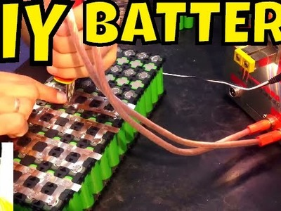 DIY Battery: from bare cells to spot welded 48v 21Ah pack (time lapse) • Electric Bike LG MJ1 18650