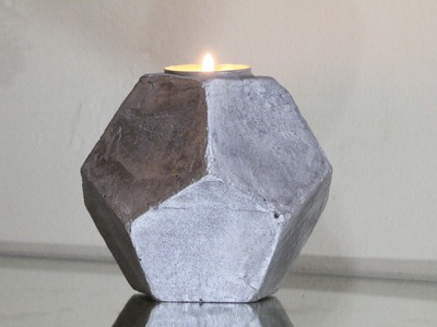 DIY: Concrete Candle Holder!( Pentagonal Shape) - kari dast