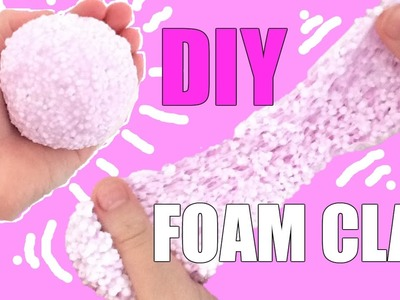DIY EASY SQUISHY FOAM CLAY SLIME | SUPER FUN | STRESS RELIEVING