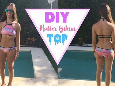 DIY HALTER BIKINI TOP || Begoandfitch005