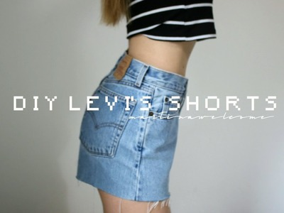 DIY LEVI'S SHORTS ✂︎ | MW