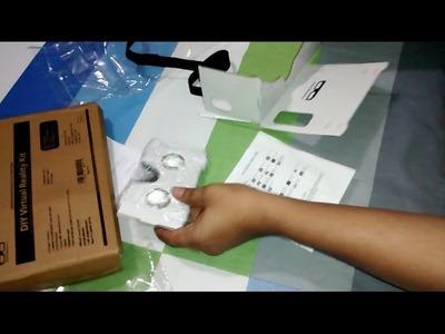 GetCardboard GC 0001 DIY Google Cardboard Virtual Reality Kit vr headset unboxing