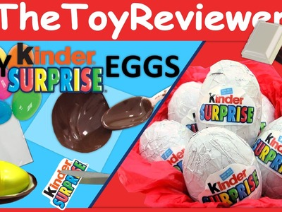How to make Kinder Surprise Toy Eggs DIY Chocolate Unboxing Toy Review by TheToyReviewer