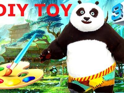 3d printed toy Kung Fu Panda 3 DIY painted crafts for kids. Make custom Po Panda HD