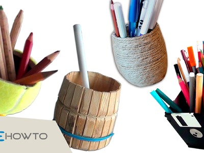 4 DIY Pencil Holders - Crafts with Waste Material