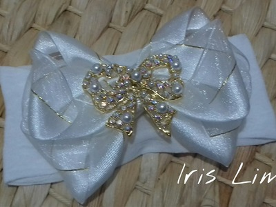Como fazer laço Diy ,Tutorial ,Pap By Iris Lima How To Make a Hair Bow
