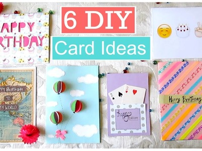 DIY- 6 Easy Greeting Card Ideas.!