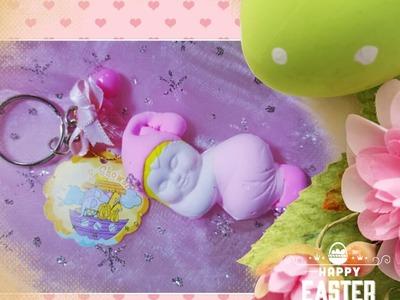 DIY BABY SHOWER LLAVERO DE BEBÉ