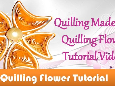 DIY Craft Ideas-How to make Beautiful Quilling New Design Orange Flower  -Paper Craft Quilling