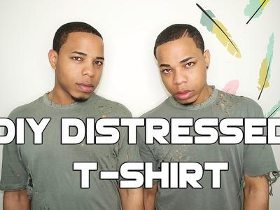 DIY Distressed T-Shirt