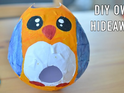 DIY Owl Hamster House