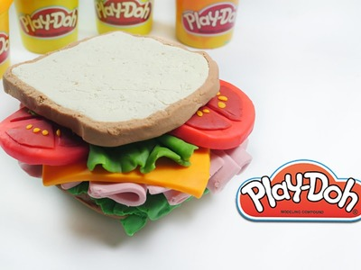 DIY Play-doh Ham Sandwich play doh tutorial