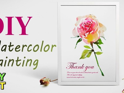 DIY Watercolor Rose Painting - Jay Art