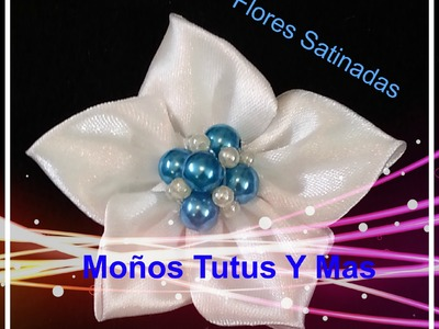 FACILES FLORES Liston Satinado paso a paso EASY SATIN FLOWERS Tutorial DIY PAP