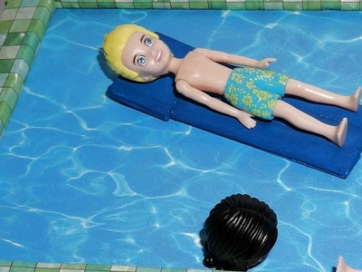 How to make a Doll Swimming Pool Float - miniature crafts DIY
