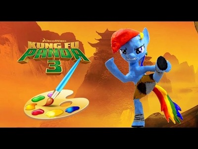 Kung Fu Panda inspired DIY Painting My Little Pony Rainbow Dash Statue Paint Craft Do It Yourself 3d