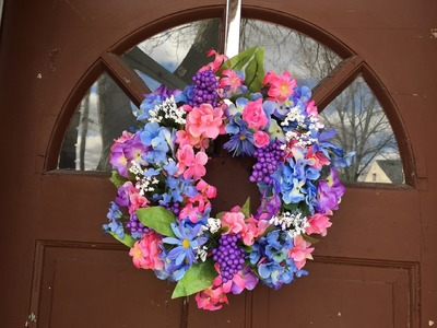 My Attempt At Making A Spring Wreath | DIY | Dollar Tree