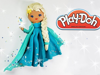 Queen Elsa Play doh tutorial DIY Frozen play-doh