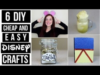 6 CHEAP AND EASY DISNEY DIY CRAFT IDEAS | PINTEREST INSPIRED