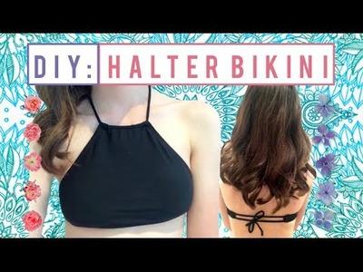 DIY Bikini Halter Top From Old Bather Bottoms