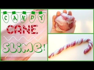 DIY CANDY CANE SLIME! | MAKE YOUR OWN SLIME!! | NO BORAX OR LIQUID STARCH!!