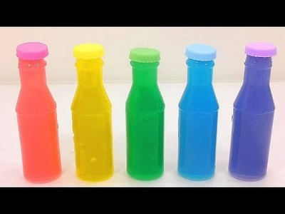 DIY How To Make Mini Plastic Drinking Water Bottle Color Pudding Learn the Recipe | Surprise Toys