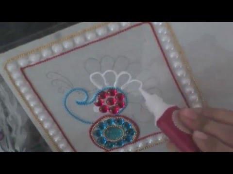 DIY kundan rangoli Part 2
